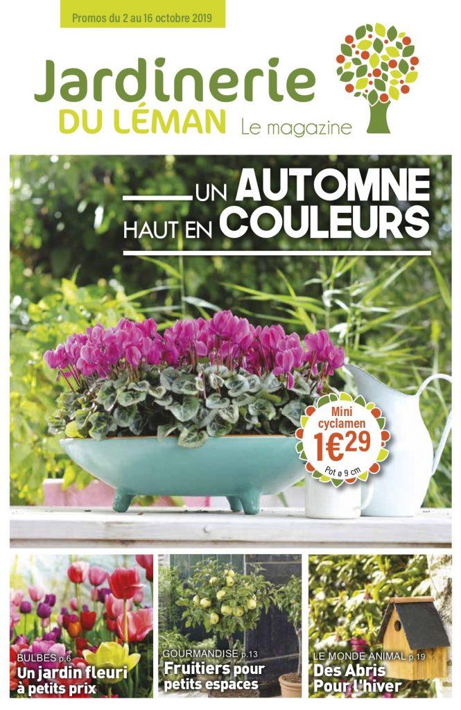 Couverture magazine octobre Jardinerie du Léman